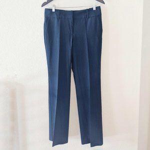 Ann Taylor Black Pin Strip Trouser Dress Pants 6P